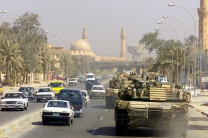 U.S. Marine tank in Baghdad, April 14, 2003. Photo source: Wikipedia