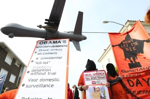 Antiwar, anti-drone protest on April 3, 2013 in San Francisco, California. (Photo Credit: Justin Sullivan/Getty Images)
